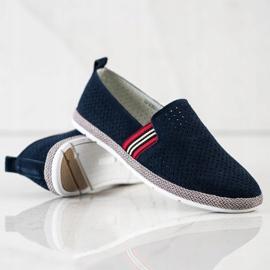 Filippo Navy Leather Slipons navy blue blue 4