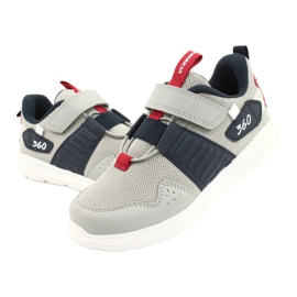 American Club AA06 leather insole red navy blue grey 3