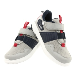 American Club AA06 leather insole red navy blue grey 4