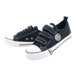 American Club Velcro sneakers American LH31 / 21 navy blue 4