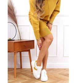 White women's sneakers 1063 Yellow 2