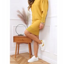 White women's sneakers 1063 Yellow 3