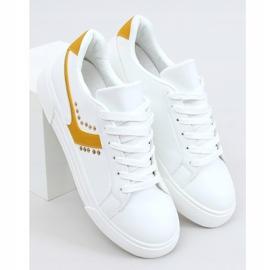 White women's sneakers 1063 Yellow 1