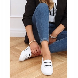 White women's sneakers 6284 Black 3