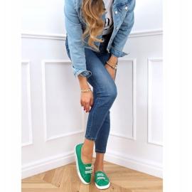 Green women's sneakers 6283 Green 2