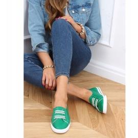 Green women's sneakers 6283 Green 3