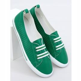 Green women's sneakers 6283 Green 1