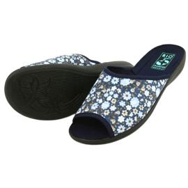 Adanex Tęg flower slippers. G1 / 2 18760 navy blue 2