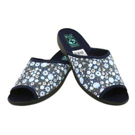 Adanex Tęg flower slippers. G1 / 2 18760 navy blue 4