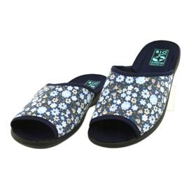 Adanex Tęg flower slippers. G1 / 2 18760 navy blue 1