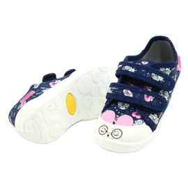 Befado children's shoes 907P127 white navy pink silver 2