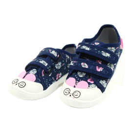 Befado children's shoes 907P127 white navy pink silver 1