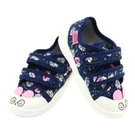 Befado children's shoes 907P127 white navy pink silver 3