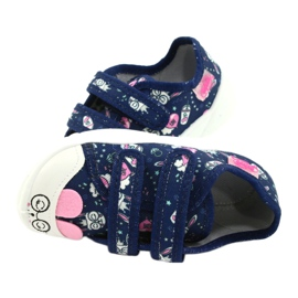 Befado children's shoes 907P127 white navy pink silver 4