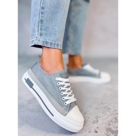 Gray women's sneakers LA173P Gray grey 3