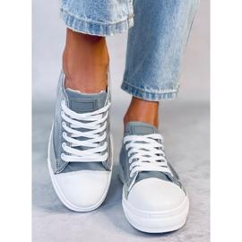 Gray women's sneakers LA173P Gray grey 2