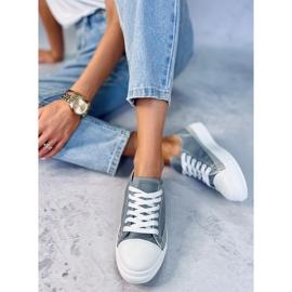 Gray women's sneakers LA173P Gray grey 4