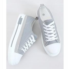 Gray women's sneakers LA173P Gray grey 1