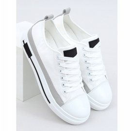 White women's sneakers LA173P White 1