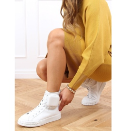 Sneakers for the ankle with a sachet white VL142 White 4