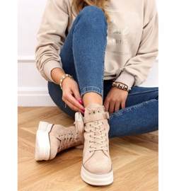 High-top sneakers with a pouch beige HO263 Beige 4