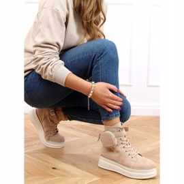 High-top sneakers with a pouch beige HO263 Beige 3
