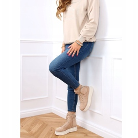 High-top sneakers with a pouch beige HO263 Beige 2