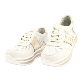 Women's sports shoes Filippo white and gold golden 2