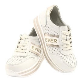 Women's sports shoes Filippo white and gold golden 4