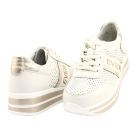 Women's sports shoes Filippo white and gold golden 3