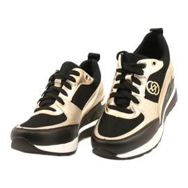 Evento Women's Wedge Sneakers 21PB35-4001 Black Gold Roxette golden 2