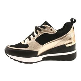 Evento Women's Wedge Sneakers 21PB35-4001 Black Gold Roxette golden 1