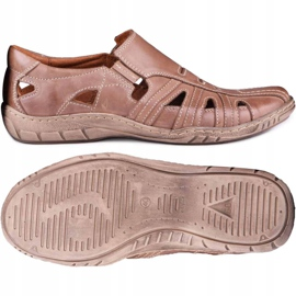 Kampol Men's openwork shoes for the summer 16/13 brown 2