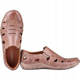 Kampol Men's openwork shoes for the summer 16/13 brown 4