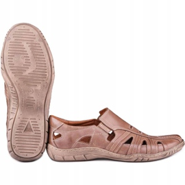 Kampol Men's openwork shoes for the summer 16/13 brown 5