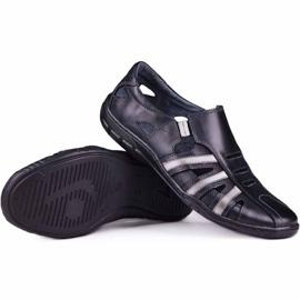 Kampol Men's openwork shoes for the summer 16/10 black 1