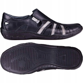 Kampol Men's openwork shoes for the summer 16/10 black 2