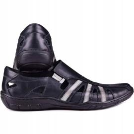 Kampol Men's openwork shoes for the summer 16/10 black 3