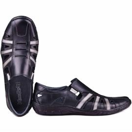 Kampol Men's openwork shoes for the summer 16/10 black 4