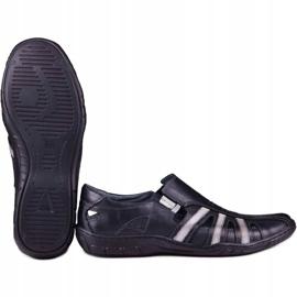 Kampol Men's openwork shoes for the summer 16/10 black 5