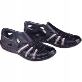 Kampol Men's openwork shoes for the summer 16/10 black 6
