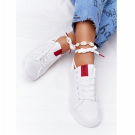 Women's Leather Sneakers With A Ribbon Big Star DD274685 White 5