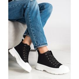 SHELOVET High Sneakers On The Platform black 4