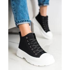 SHELOVET High Sneakers On The Platform black 3