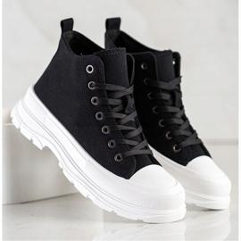 SHELOVET High Sneakers On The Platform black 1