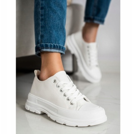 SHELOVET White Sneakers On The Platform 2