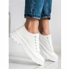 SHELOVET White Sneakers On The Platform 3