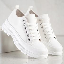 SHELOVET White Sneakers On The Platform 1