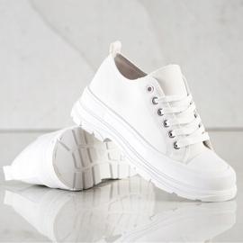 SHELOVET White Sneakers On The Platform 4
