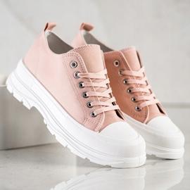 SHELOVET Pink Sneakers On The Platform 4